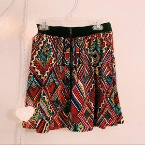Material Girl Tribal Print Zipper Mini Skirt